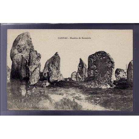 56 - Carnac - Menhirs de Kermario - Voyage - Dos divise