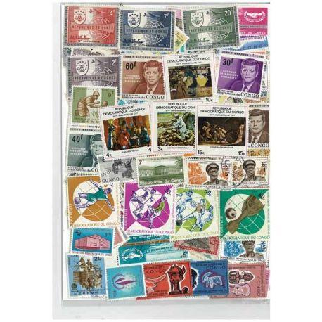 Kongo - 25 verschiedene Briefmarken