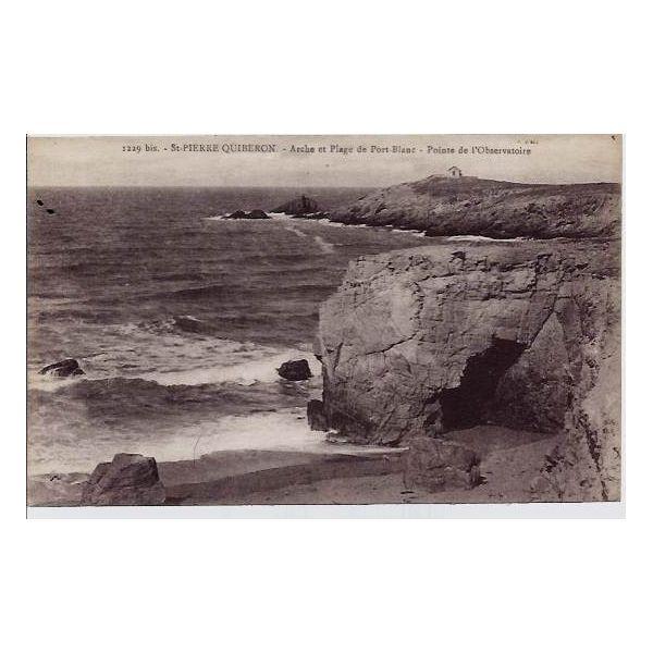 Carte postale 56 st pierre quiberon arche et plage de - Camping port blanc saint pierre quiberon ...