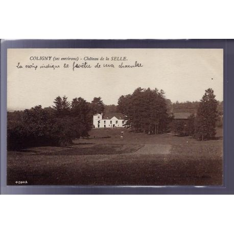 Carte postale 57 - Coligny - chateau de la Selle - Voyage - Dos divise