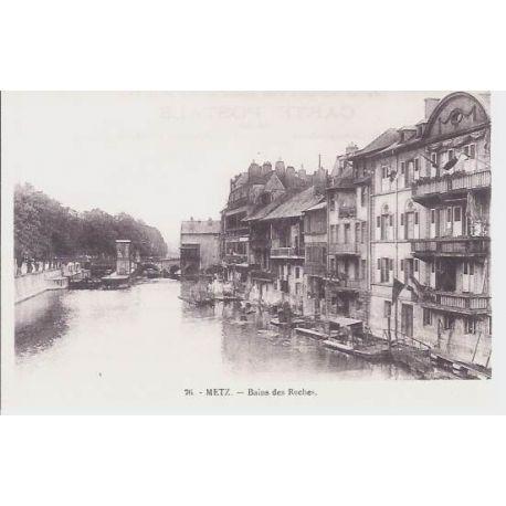 Carte postale 57 - Metz - Bains des roches