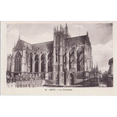 Carte postale 57 - Metz - La cathedrale