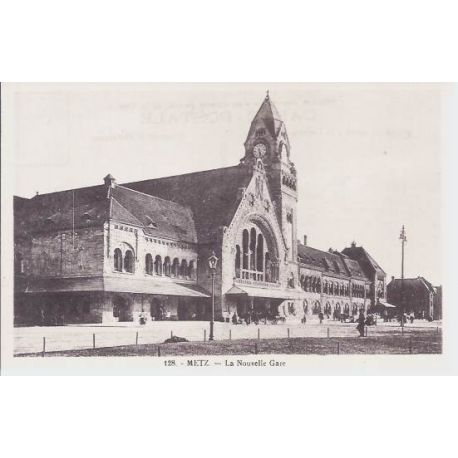Carte postale 57 - Metz - La nouvelle gare