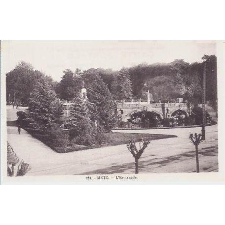 Carte postale 57 - Metz - L'Esplanade