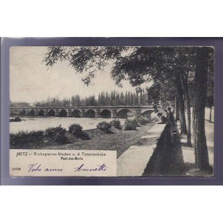 Carte postale 57 - Metz - Pont des Morts - Voyage - Dos non divise