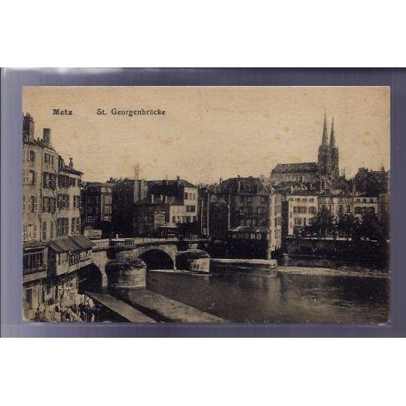 Carte postale 57 - Metz - St Georgenbrucke - Voyage - Dos divise