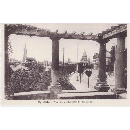 Carte postale 57 - Metz - Vue du belvedere de l'Esplanade