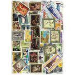 Sammlung gestempelter französischer Briefmarken der Kongo