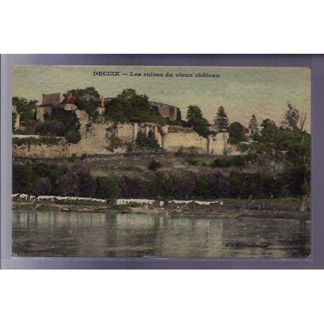 Carte postale 58 - Decize - Les ruines du vieux chateau - Voyage - Dos divise