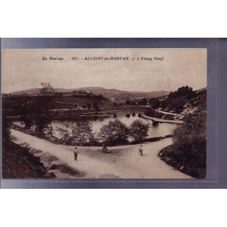 Carte postale 58 - Alligny-en-Morvan - l'etang Neuf - Voyage - Dos divise
