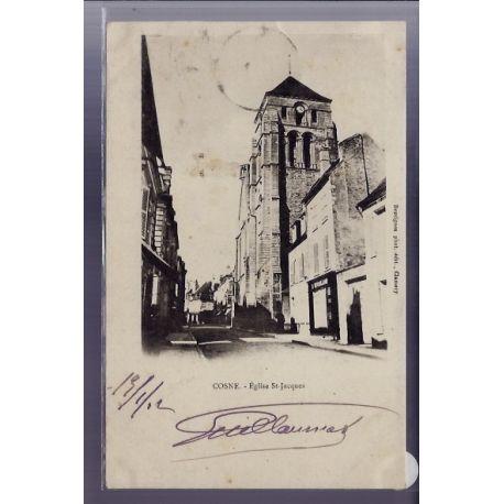 Carte postale 58 - Cosne - Eglise St-Jacques - Voyage - Dos non divise