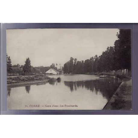 Carte postale 58 - Cosne - Gare d'eau des Fouchards - Voyage - Dos divise