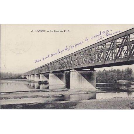 Carte postale 58 - Cosne - Le pont du P.O - 1912