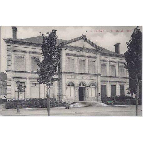 Carte postale 58 - Cosne - L'Hotel de ville - 1912