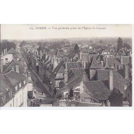 Carte postale 58 - Cosne - Vue generale prise de l'Eglise