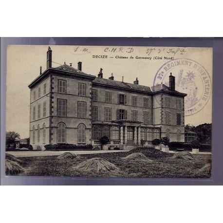 Carte postale 58 - Decize - Chateau de Germancy - Cote Nord - Voyage - Dos divise