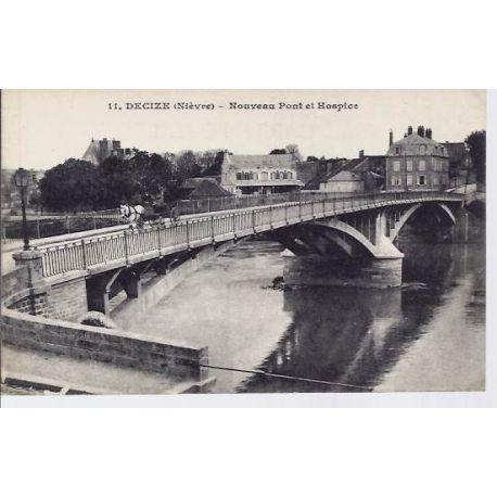 Carte postale 58 - Decize - Nouveau pont et hospice