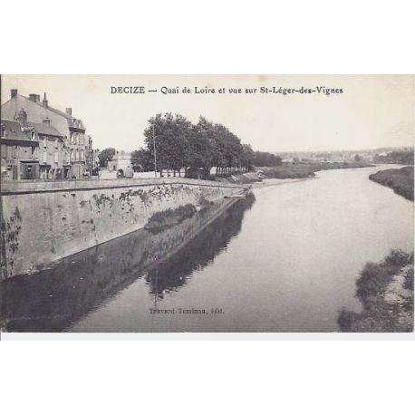 Carte postale 58 - Decize - Qaui de la Loire-St Leger des vignes