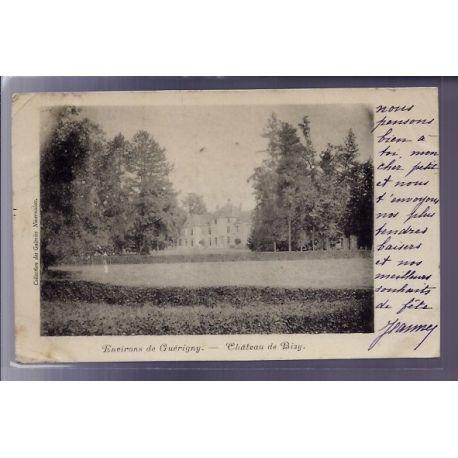 Carte postale 58 - Environs de Guerigny - Chateau de Bizy - Voyage - Dos non divise