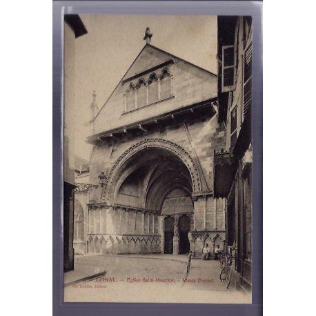 Carte postale 58 - Epinal - Eglise Saint-Maurice - Vieux portail - Non voyage - Dos divise