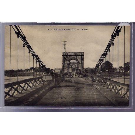 Carte postale 58 - Fourchambault - Le Pont - Voyage - Dos divise
