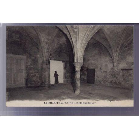 Carte postale 58 - La Charite-sur-Loire - Salle Capitulaire - Voyage - Dos divise