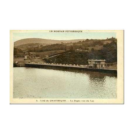 Carte postale 58 - LAC DE CHAUMECON - LA DIGUE