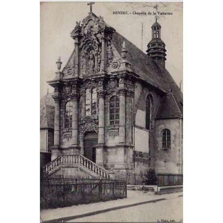 Carte postale 58 - Nevers - Chapelle de la Visitation- Voyage - Dos divise