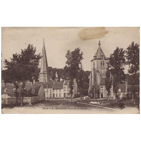 Carte postale 59 - Bergues - Toiur de St-Winoc