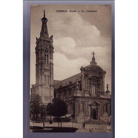 59 - Cambrai - La Cathedrale - Non voyage - Dos divise