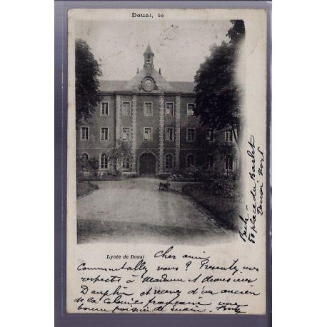 Carte postale 59 - Douai - Lycee de Douai - Voyage - Dos non divise