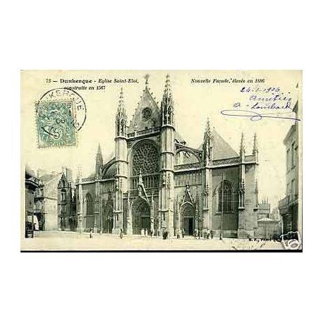 Carte postale 59 - Dunkerque - Eglise St-Eloi - Nouvelle facade