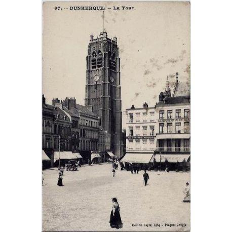 59 - Dunkerque - La tour - Non voyage - Dos divise