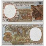 Beautiful banknote Central African Republic Pick number 301 - 500 FRANC 1993