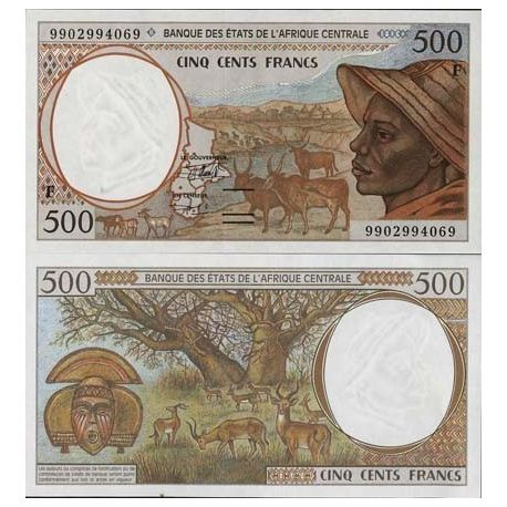 Central Africa Central African Republic - Pk # 301 - Ticket 500 Francs