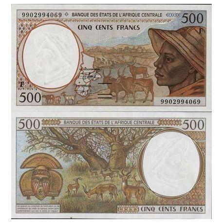 Billet de banque Afrique Centrale Centrafrique Pk N° 301 - 500 Francs