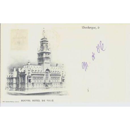 Carte postale 59 - Dunkerque - Nouvel Hotel de Ville - 1899