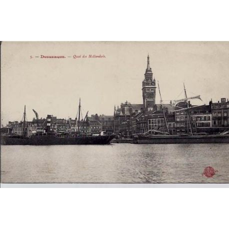 Carte postale 59 - Dunkerque - Quai des Hollandais - Non voyage - Dos divise