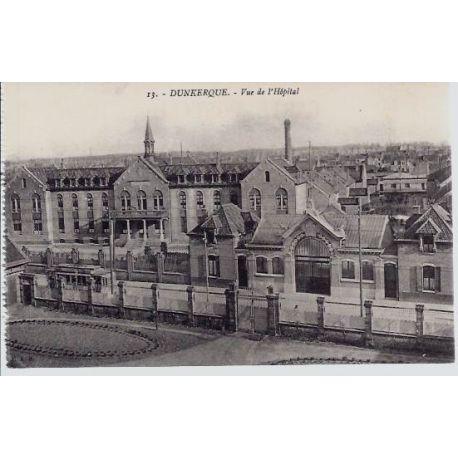 Carte postale 59 - Dunkerque - Vue de l'Hopital