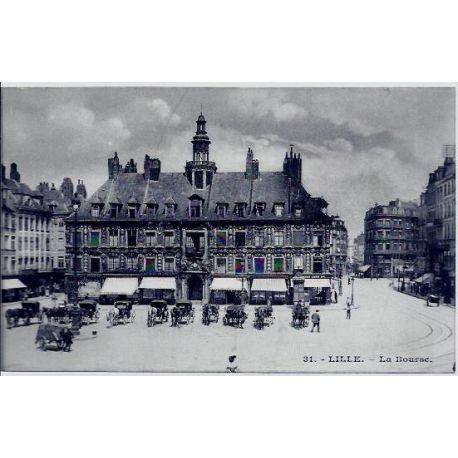 Carte postale 59 - Lille - La Bourse - Non voyage - Dos divise