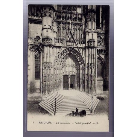 Carte postale 60 - Beauvais - La Cathedrale - portail principal - Non voyage - Dos non divi