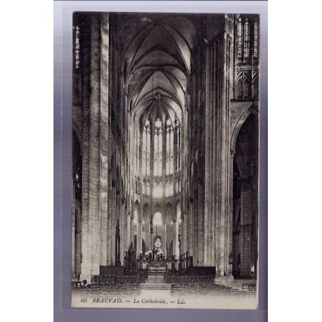 Carte postale 60 - Beauvais - La Cathedrale - Voyage - Dos divise