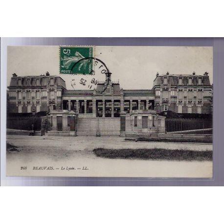Carte postale 60 - Beauvais - Le lycee - Voyage - Dos divise