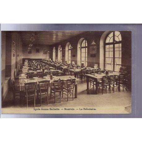 Carte postale 60 - Beauvais - Lycee Jeanne Hachette - le refectoire - Voyage - Dos divise