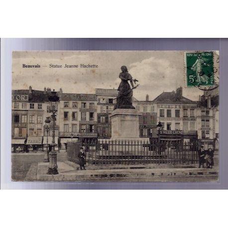 Carte postale 60 - Beauvais - Statue Jeanne Hachette - Voyage - Dos divise