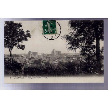 Carte postale 60 - Beauvais - vue panoramique - Voyage - Dos divise