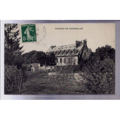 Carte postale 60 - Chateau de Courcelles - Voyage - Dos divise