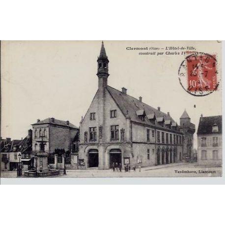 Carte postale 60 - Clermont - L'Hotel de Ville