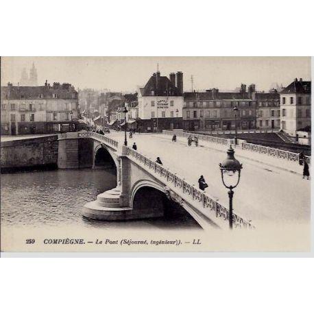Carte postale 60 - Compiegne - Le Pont (sejourne,ingenieur)