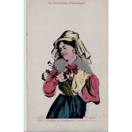 Carte postale 61 - Alencon - La Normandie pittoresque - Coiffe et costumes - Non voyage - Do